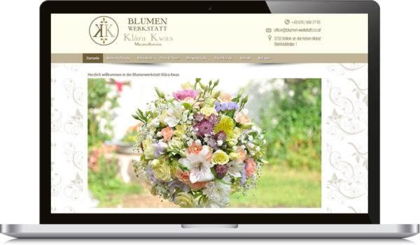 Blumenwerkstatt Homepage erstellten