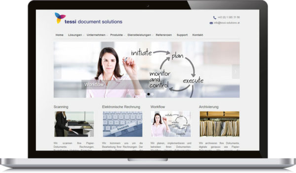 Tessi-homepage-erstellten