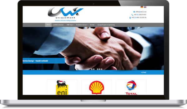 uwx Homepage erstellten